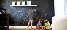 Pintura de pizarra para paredes divertidas - Pared pizarra ninos ...