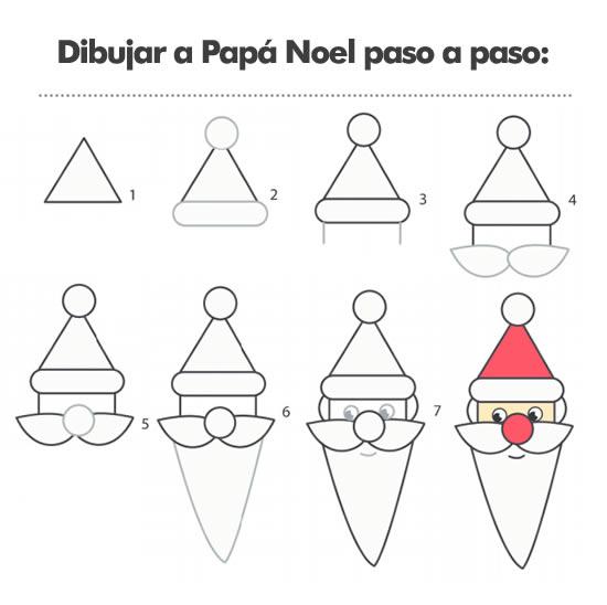 Aprende a dibujar a Papá Noel paso a paso