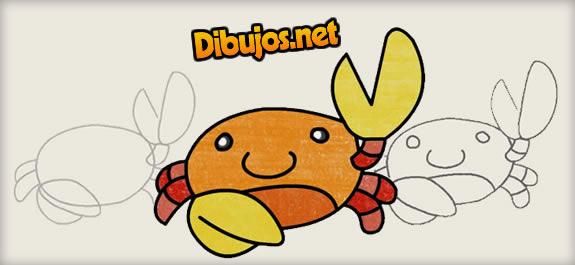 Dibujamos al cangrejo Acuarel con lápices de colores