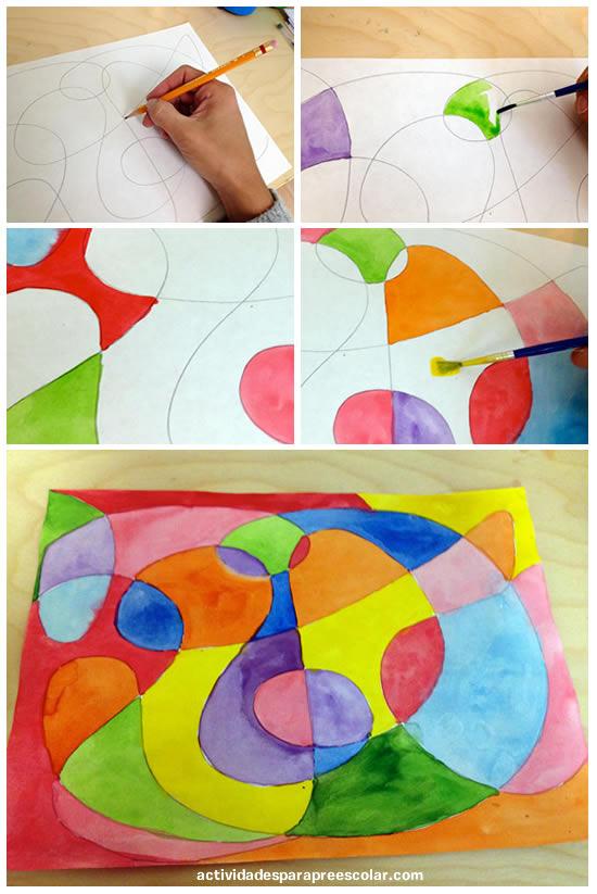 C mo crear mi primera obra de arte abstracta for Imagenes de cuadros abstractos faciles de hacer