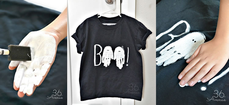Camiseta fantasma para Halloween