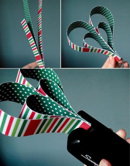 Manualidad corazones de papel para decorar el rbol de - Adornos para el arbol de navidad caseros ...