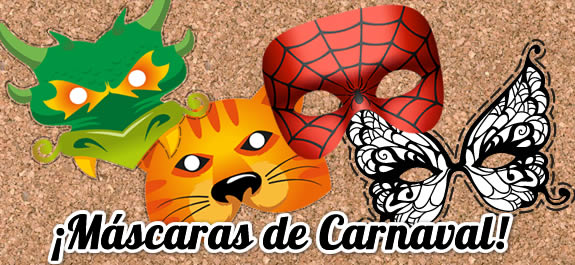 Descarga y pinta tu máscara para Carnaval