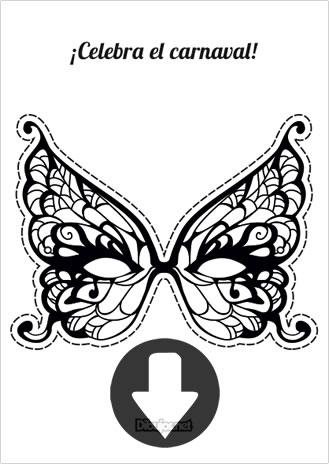 Máscara de mariposa