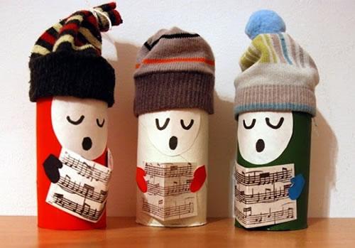 Manualidad 15 manualidades de navidad con rollos de papel perfectas para hacer con ni os - Manualidades de navidad con papel ...