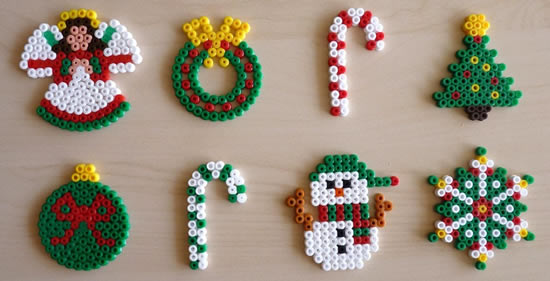manualidad 15 ideas de manualidades de navidad con hama beads. Black Bedroom Furniture Sets. Home Design Ideas